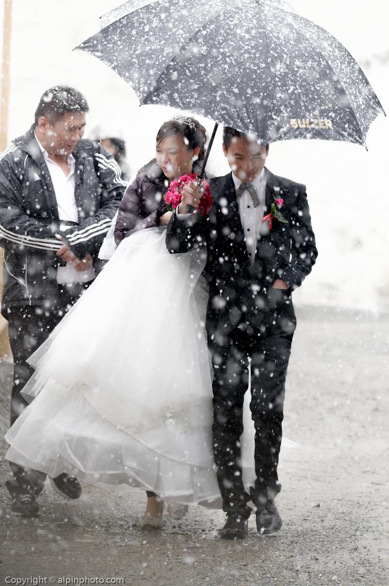 Winter civil wedding Switzerland