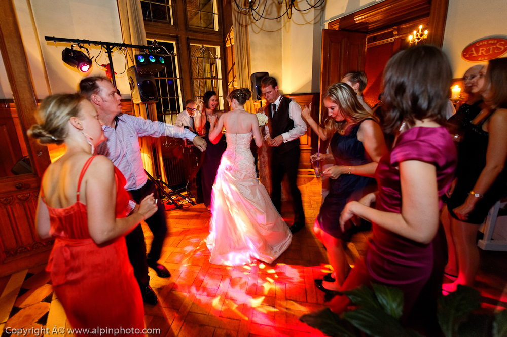 Wedding at night with Alpin photo