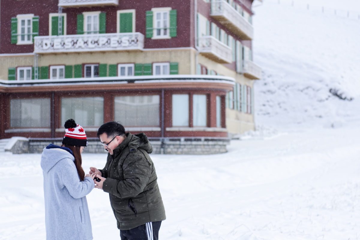 Interlaken Photographer wedding proposals