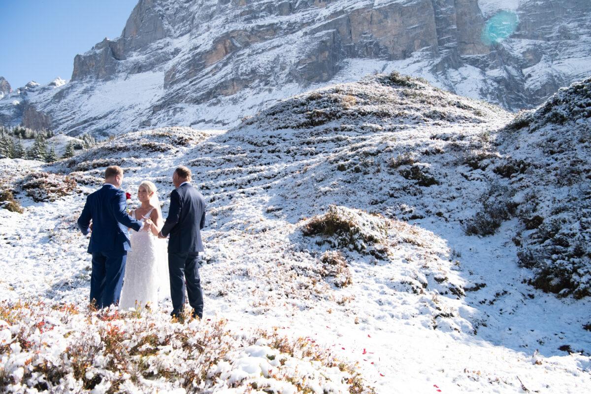 Snow Elopement Ceremony